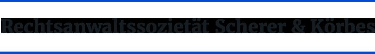 Rechtsanwaltssozietät Scherer und Körbes GbR - Logo